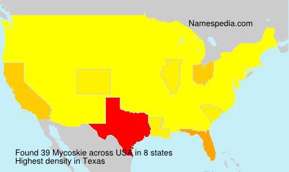 Surname Mycoskie in USA
