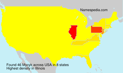 Surname Mycyk in USA