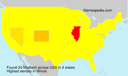 Surname Mydlach in USA