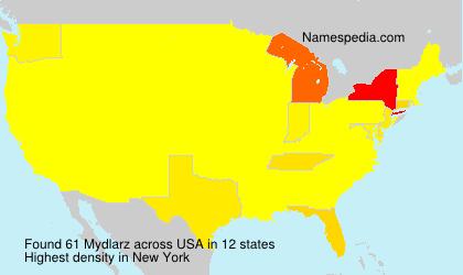 Surname Mydlarz in USA