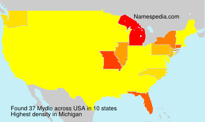 Surname Mydlo in USA