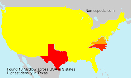 Surname Mydlow in USA