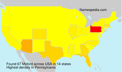 Surname Myford in USA