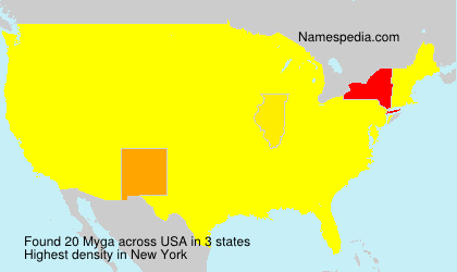 Surname Myga in USA