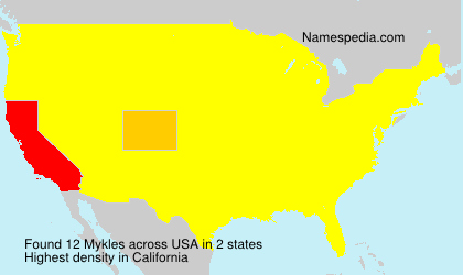 Surname Mykles in USA
