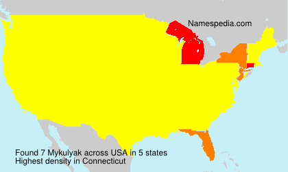 Surname Mykulyak in USA