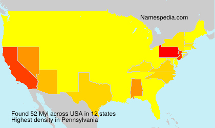 Surname Myl in USA