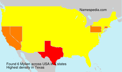 Surname Mylien in USA