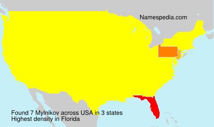 Surname Mylnikov in USA