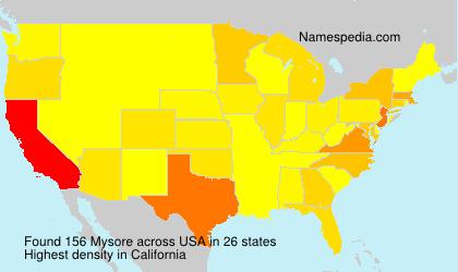 Surname Mysore in USA