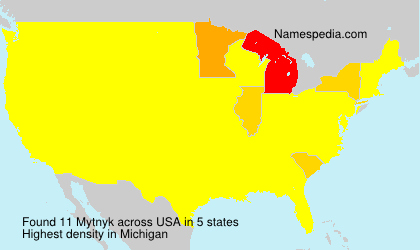 Surname Mytnyk in USA