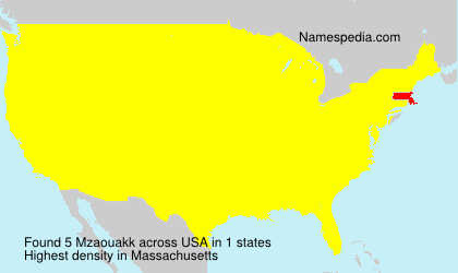 Surname Mzaouakk in USA