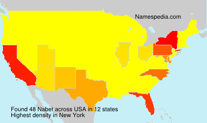Surname Nabet in USA