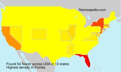 Familiennamen Nacer - USA