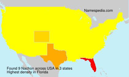 Surname Nachon in USA