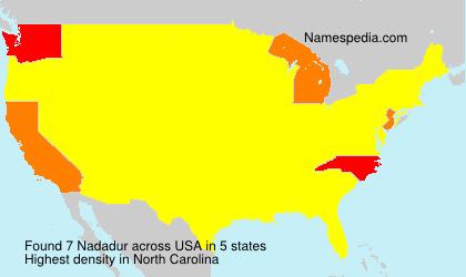 Familiennamen Nadadur - USA