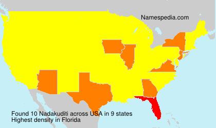 Nadakuditi - Names Encyclopedia