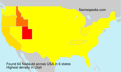 Surname Nadauld in USA