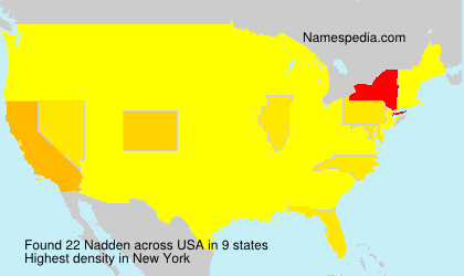 Surname Nadden in USA