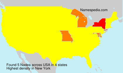 Surname Nadea in USA