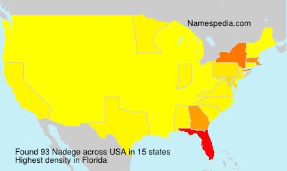 Familiennamen Nadege - USA