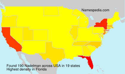 Familiennamen Nadelman - USA