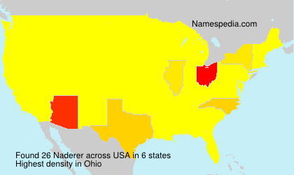Surname Naderer in USA