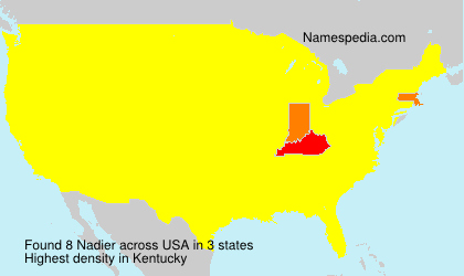 Surname Nadier in USA