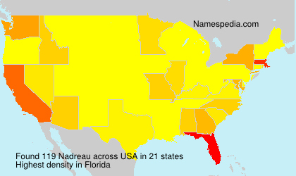 Surname Nadreau in USA