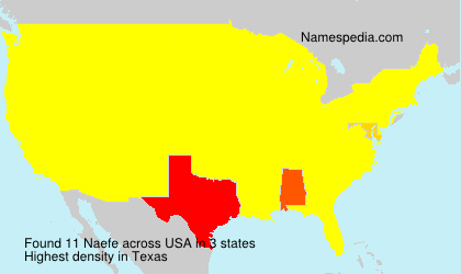 Surname Naefe in USA