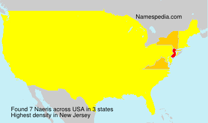 Surname Naeris in USA