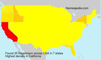 Familiennamen Nagelmann - USA