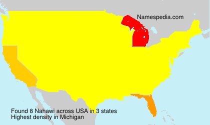 Surname Nahawi in USA