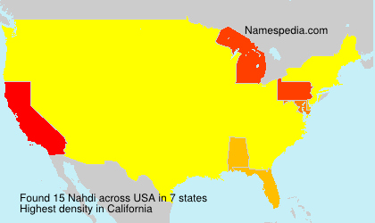 Surname Nahdi in USA