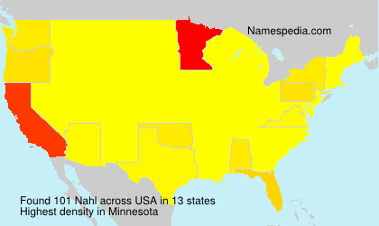 Surname Nahl in USA