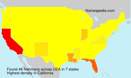 Surname Nahmens in USA