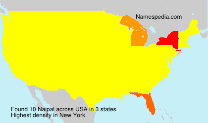 Surname Naipal in USA