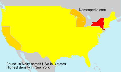 Surname Nairy in USA