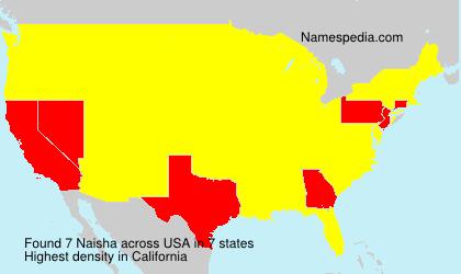 Surname Naisha in USA