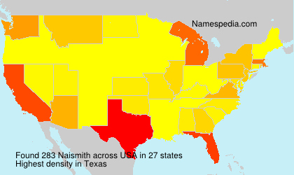 Surname Naismith in USA