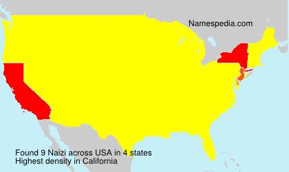 Familiennamen Naizi - USA