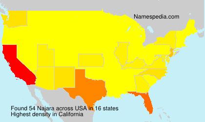 Familiennamen Najara - USA