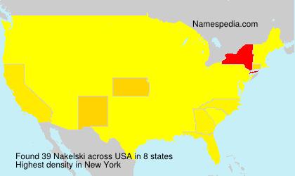 Surname Nakelski in USA