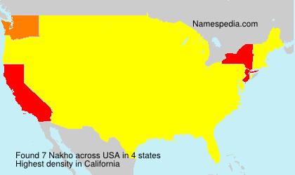 Surname Nakho in USA