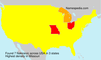 Surname Nakicevic in USA