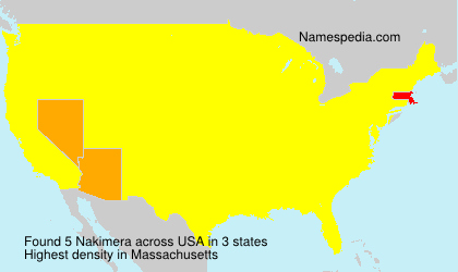 Surname Nakimera in USA