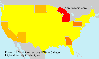 Surname Nakirikanti in USA