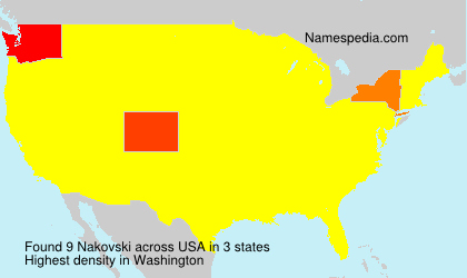 Surname Nakovski in USA