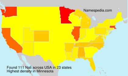 Surname Nali in USA