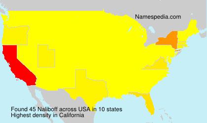 Surname Naliboff in USA